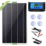 Dongzhur Solar Panel Kit, 10W 12V Monocrystalline Battery Charger & Maintainer with 10A Charge Controller + Extension Cable for RV Marine Boat Off Grid System, 18V DC Output for Portable Cell Phone