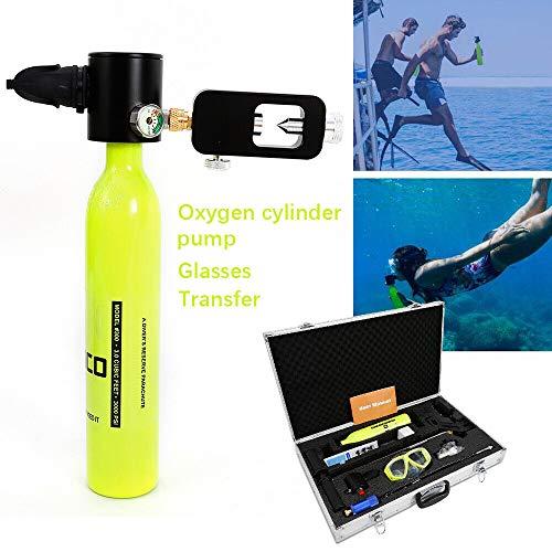 OU BEST CHOOSE Tragbar Freizeit Tauchausrüstung - Sauerstoffflasche + Pumpe + Transfer + Taucherbrille