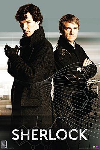 Culturenik Sherlock and Watson Back to Back (Sherlock Holmes) British Crime Drama TV Television Show Print (Unframed 24x36 Poster)