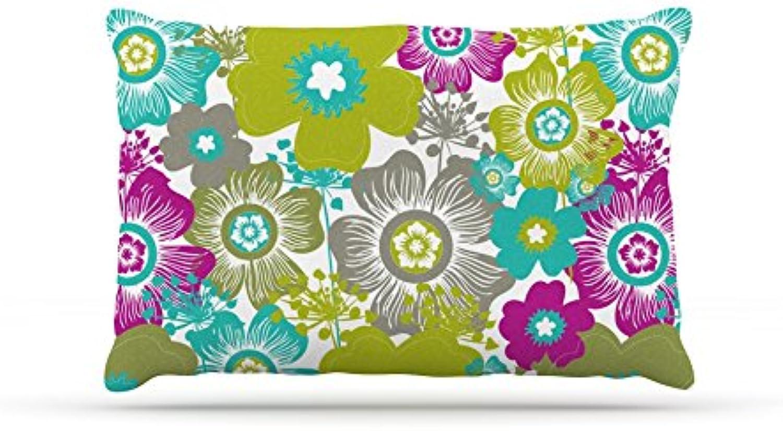 Kess InHouse Nicole Ketchum Little Bloom  Fleece Dog Bed, 30 by 40Inch