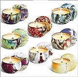 WLQWER 8 PCS Conjunto de Regalo de Velas perfumadas, Velas aromáticas para Mujer, Velas de Fragancia Natural para Alivio de estrés y Velas de aromaterapia