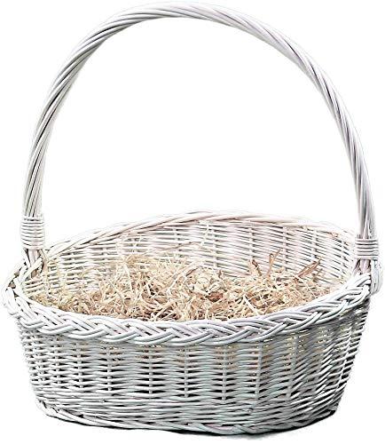 Alpenfell Geschenkkorb aus Weide in 4 Größen (Kein Set), Weidenkorb Bügelkorb Geschenkkorb Präsentkorb mit Griff, Handarbeit, sehr stabil (XL)
