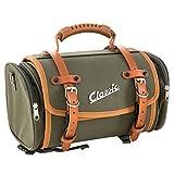 Borsa valigia tracolla Vespa per portapacchi anteriore posteriore trasporto viaggio turismo idea regalo moto custom vintage retò (Canvas Verde Oliva)