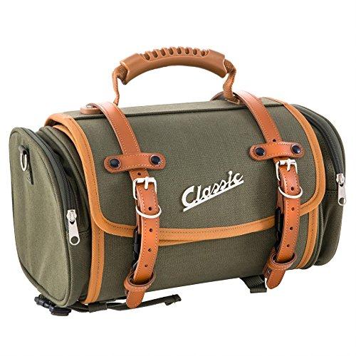Zak/koffer SIP Classic, klein, voor bagagedrager, 330 x 190 x 180 mm, ca. 10 liter, canvas, olijf.