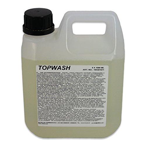 1 St. Top Wash zur Reinigung textiler Oberflächen wie Teppiche, Polster, bezüge, Auch als Universalreiniger bestens geeignet, Schwach schäumender neutraler Reiniger 1-3 1Liter vom Hersteller ...