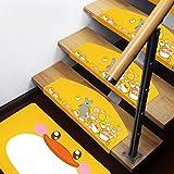 Peinture L'encre Style Et Belle Bande Dessinée Style Tapis D'escaliers- Thicken Escaliers Bande De Roulement...