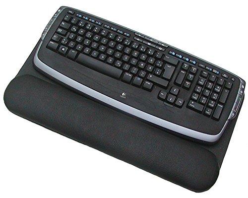 Ensuite Leder Tastatur Unterlage schwarz mit Handballenauflage, ideal für Mac, Trackpads