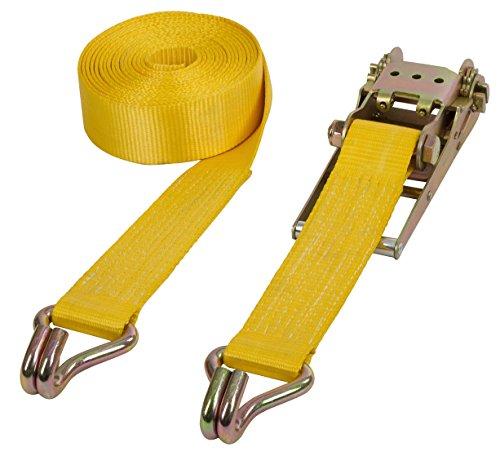Kerbl 37190 Schwerlastzurrgurt 2-teilig, gelb, 75 mm, 8 m, 10 kg