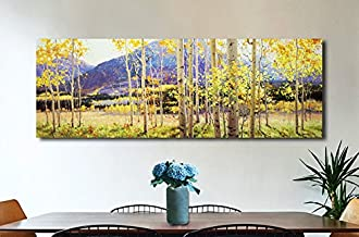Custom Aspen Tree Painting Original Canvas Birch Tree Fine Art Mural Painting Original Aspens Forests Modern Oil Painting Contemporary Art