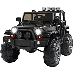 Image: Best Choice Products 12V Ride On Car Truck with Remote Control, 3 Speeds, Spring Suspension, LED Light Black