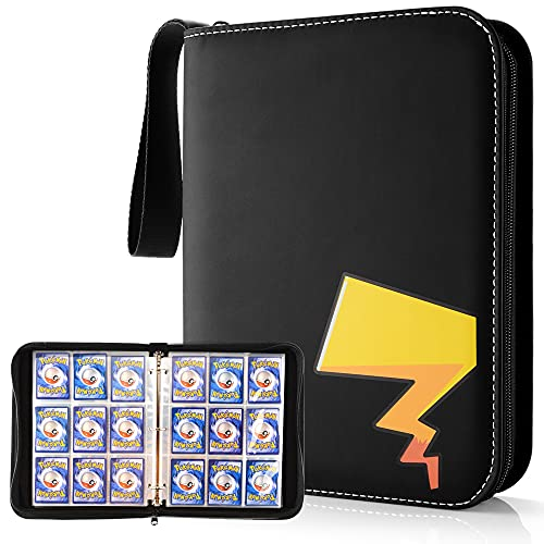 Porta Carte Pokemon, Pokemon Carte Album (9-Pocket) Raccoglitore Carte Pokémon di Trading Card, Yu-Gi-Oh, Skylanders Cards Album, 720 capacità di Carte