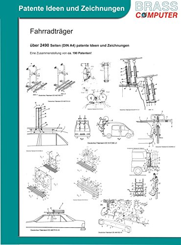 Fahrradträger, über 2490 Seiten (DIN A4) patente Ideen und Zeichnungen