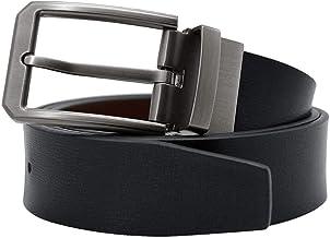 mimiliy Lederen riem riemen mannen merk lederen riem pin gesp zwarte zakelijke broekriem (riemlengte:125cm kleur:zwart) (N...
