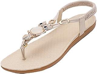 Gaorui Women's Glitter Thong T Strappy Sandals Flat Slingback Beach Shoes Home Slippers