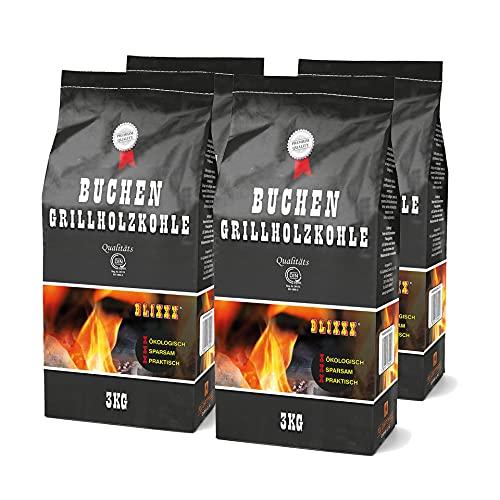 Blixxx Buchen Grillkohle 3kg Premium...