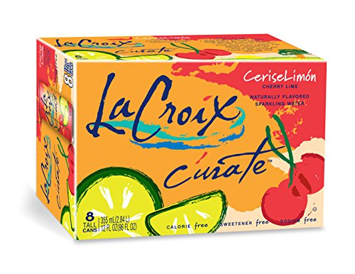 La Croix C'urate Cherry Lime Sparkling Water, 12 Ounce Cans, 8 Count (Pack of 3)