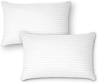 Nivedha Mattress- Organic Silk Cotton/kapok/Semal Ilavam Panju Soft Sleeping White Striped Classic Pillows, Size : 25 x 15...