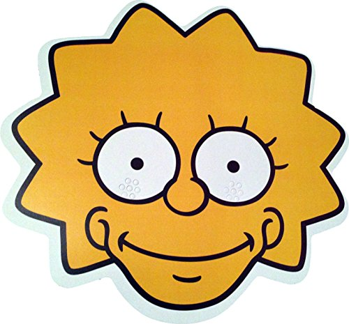 TV Stars The Simpsons - Lisa - Card Face Mask - Licensed Product