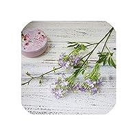 右店長い茎の夜ジャスミンの花家庭用人工花結婚式の庭の装飾フローレス写真偽の花ナイトブッシュ、パープル