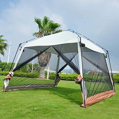 SUNTSE Tienda de campaña Familiar Toldo Impermeable Fácil de Montar Gran Espacio para 5-10 Personas Camping Viajes Playa La Pesca Al Aire Libre Senderismo, 3.3 x3.3 x2.4 m