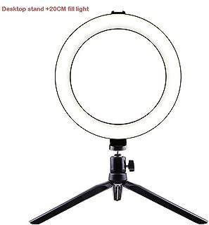 Color : B SUYIDAN Ring Light 12Inch LED Floor Ring Light Microphone Phone Holder Stepless Dimming Fill Light USB Power Supply Selfie Lamp RinglightM
