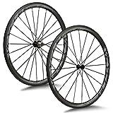 VCYCLE Nopea 700C 38mm Fibra di Carbonio Bici da Corsa Ruote Copertoncino Larghezza 23mm Shimano o Sram 8/9/10/11 velocità