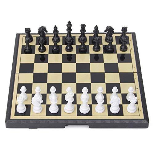 Zyj-Chess Ajedrez de Viaje Amerous 15' x 15' Viaje Magnético Internacional Conjunto de ajedrez con el Tablero de ajedrez Plegable Juego de ajedrez