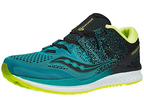 Saucony Men's Freedom ISO 2 Running Shoe, Teal/Black, 13 M US