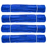 Waycreat 400 Pieces Pipe Cleaners Blue Chenille Stem for DIY Art Craft Decorations (6mm x 12 Inch)