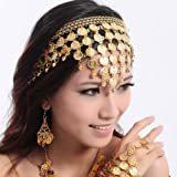 exo.nu New Belly Dance Hair Accessories Hair Hoop Headband Performances Headpiece Jewellery Party Accessories(Gold Color)