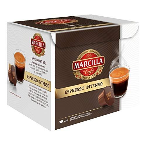 Café Intenso Compratible con Dolce Gusto Marcilla 14 Cápsulas