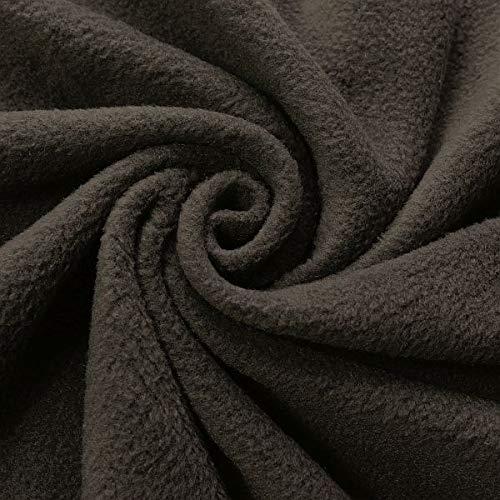STOFFKONTOR Polar Fleece Stoff Meterware, Fleecestoff zum Nähen mit Antipilling Eigenschaften - Dunkel-Grau