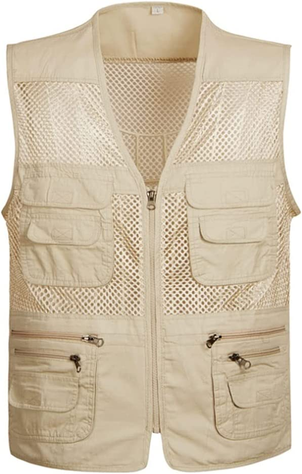 Fishing Vests for Men Multi-Pockets Seasonal Wrap Introduction Mes Vest Don't miss the campaign Lightweight