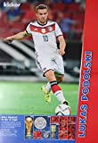 1x Einzelposter Lukas Podolski Star-Poster Deutsche