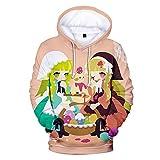 WTZFHF Moda Unisex 2D Sudadera con Capucha Suéter con Capucha Huevo 3D Impreso Digital Ropa Hombres y Mujeres Suéter con Capucha Regalos para niños y niñas