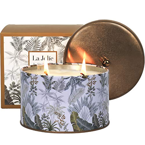 LA JOLIE MUSE Black Coffee Scented Candle, 100% Natural Candle for Home, 40-50 Hours Long Burning, Tin, 14.1Oz