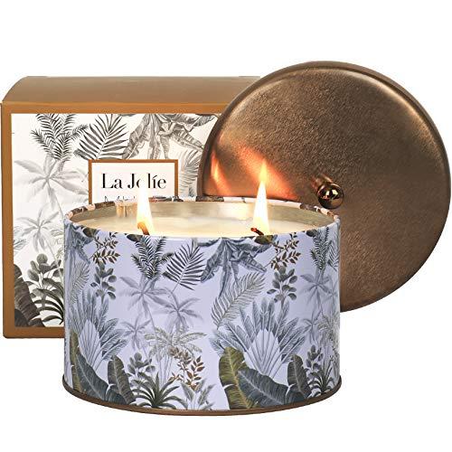 La Jolíe Muse Schwarzer Kaffee Duftkerze, 100% natürliche Kerze für zu Hause, 40-50 Stunden Lange Brennzeit, Dose, 400g