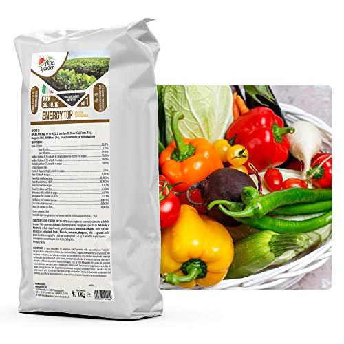 Albagarden - Energy Top NPK 30.10.10 + Microelementi Azoto Fosforo Potassio per Piante Orto Prato Agrumi Orchidee Giardino x 1 kg