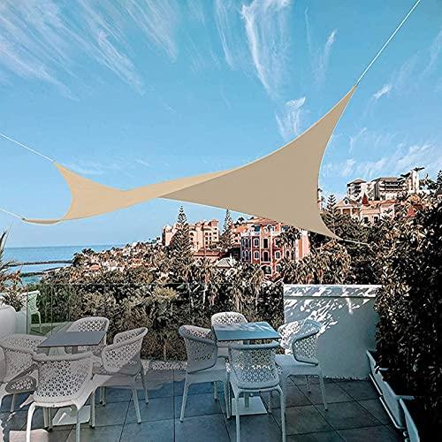 IBIZSAIL Markise Wasserdicht 95% UV Sonnenschutz - Gebogenes Rechteck - Geeignet für Garten、 Balkon、 Outdoor - Sand - 400 x 200 cm