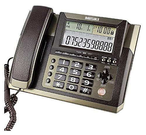LBBZJM Teléfono con Cable LANDINE Teléfono con Cable Teléfono Fijo con calculater básica y Persona Que Llama IDENTIFICACIÓN, Teléfono Gold Coffee Rotary, Estudio, Hotel