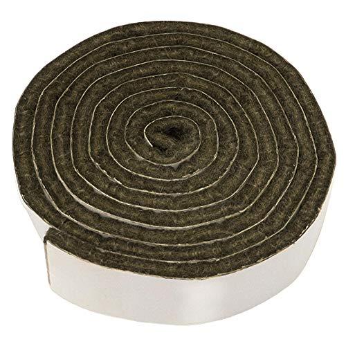 Adsamm® | selbstklebendes Filzband zum Zuschneiden | 19x1000 mm | Braun | Rolle | 3.5 mm starker selbstklebender Filzzuschnitt in Top-Qualität