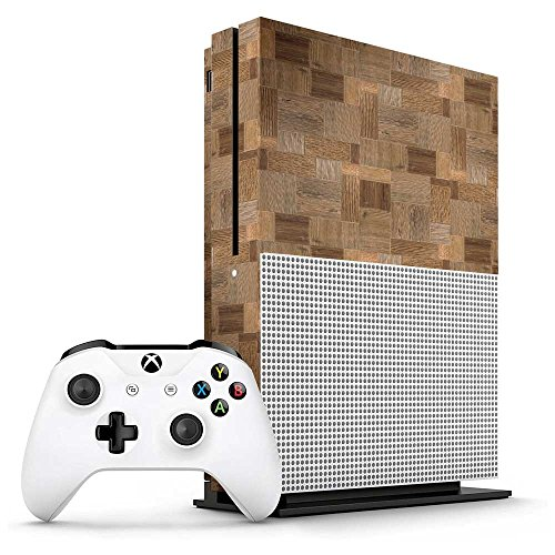 Xbox One S Carved Wood Blocks Console Skin / Cover/ Wrap for Microsoft Xbox One S