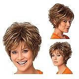 Tonake 382,parrucca da donna con capelli corti mossi, resistente al calore
