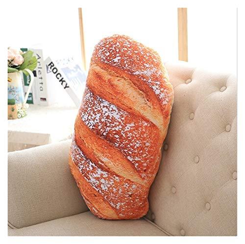 Youpin 50 cm 70 cm 3 tipos de almohada creativa patrón de pan divertido suave masaje cuello almohada PP algodón relleno de la salud cervical almohada (color: pan de coco, tamaño: 70 cm)