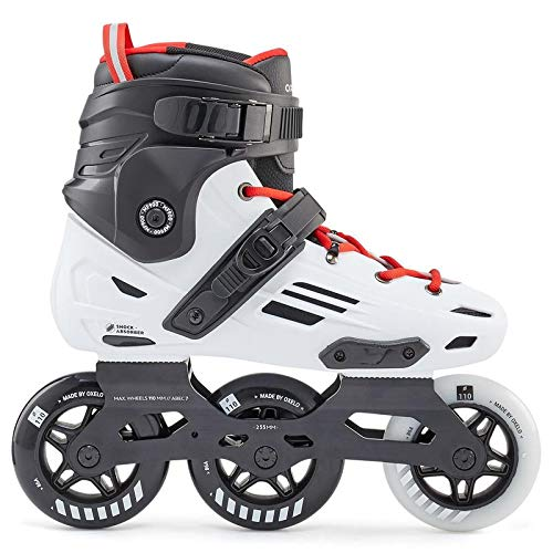 XYZLEO Inliner Damen Rollerblades Erwachsene Inliner Herren Draussen Mode 3 GroßE RäDer Rennen Roller Skates, Sicherheit Komfortabel Inline Skates,43