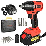 Impact Driver Kit 18V 4.0Ah Brushless Cordless , with Lithium-ion Battery/Charger,320NM Torque, 1/2' Keyless Chuck,Variable Speed & LED for Automotive Repair