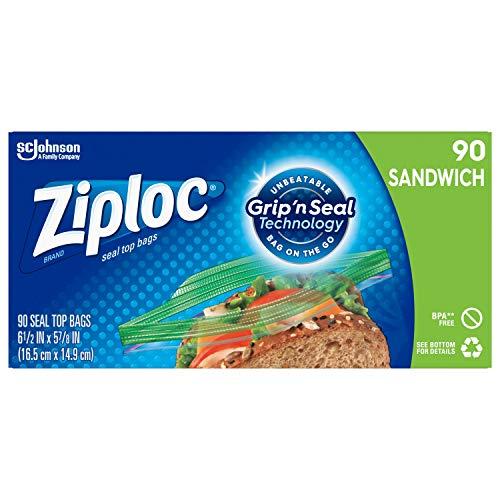 Ziploc Sandwich Bags, Easy Open Tabs, 90 Count