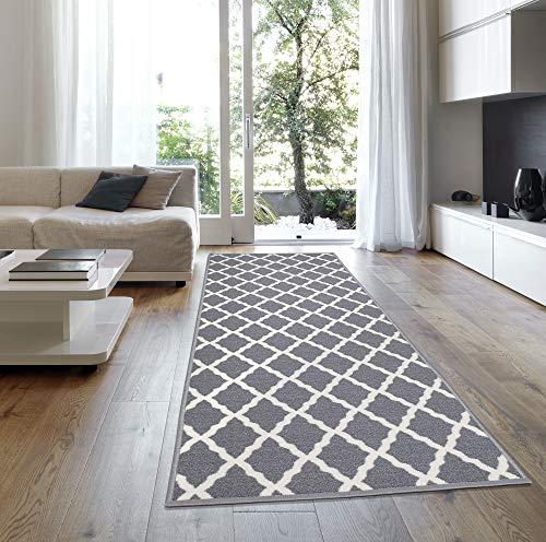 Ottomanson Glamour Collection Non-Slip Moroccan Trellis Design Runner Rug