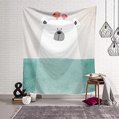 Tapiz de elefante de burbuja rosa jirafa para niños, arte de pared de animales, montaje en pared de guardería, tapiz nórdico para decoración de habitación de bebé para niños Iuq-300