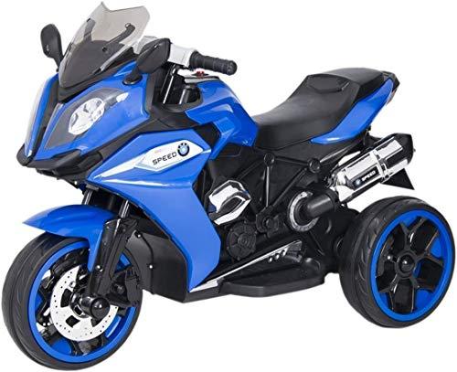 Kinder Motorrad Elektro Trike Dreirad Racing Edition elektrisch mit Licht und Sound Blau ab 3 Jahren